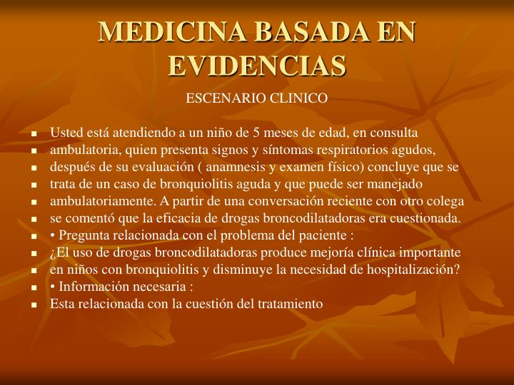 MEDICINA BASADA EN EVIDENCIAS