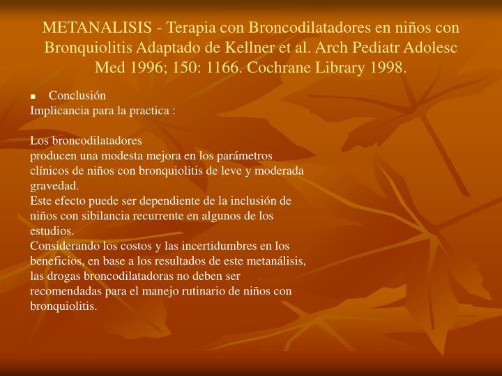 METANALISIS - Terapia con Broncodilatadores en niños con