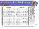 key term exiter example