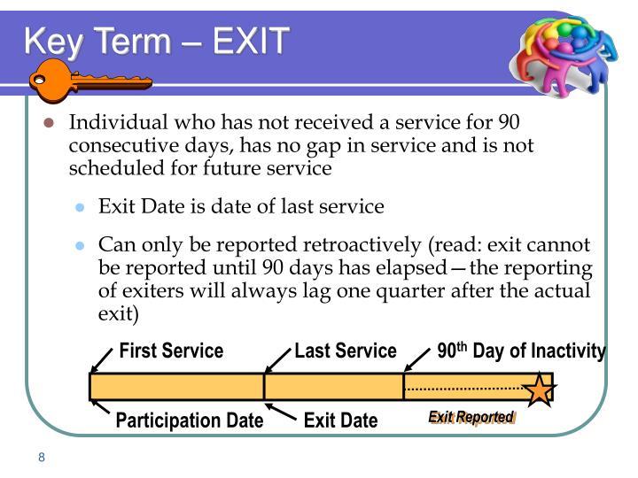 Key Term – EXIT