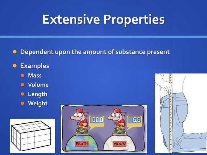Extensive Properties