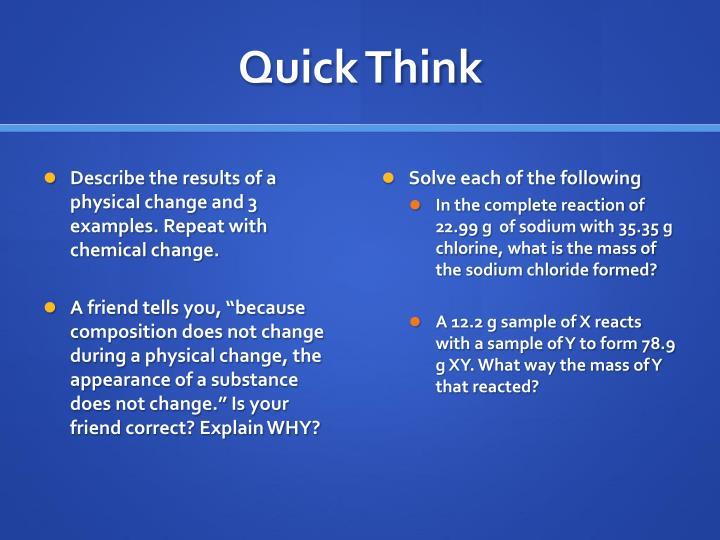 Quick Think