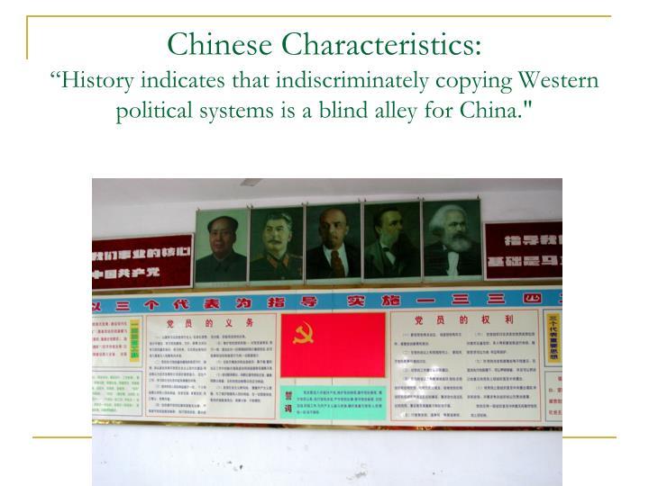 Chinese Characteristics: