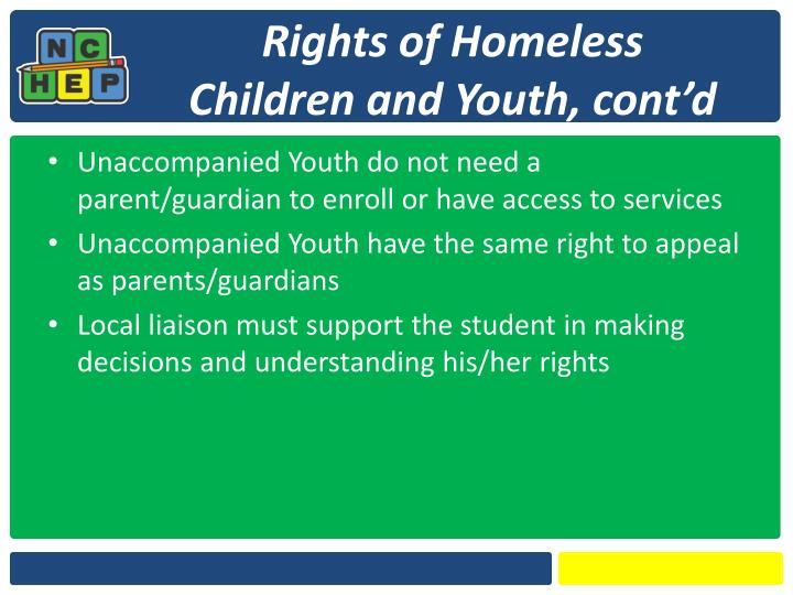 Rights of Homeless