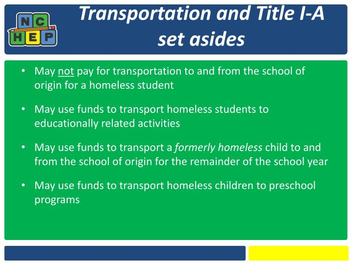 Transportation and Title I-A