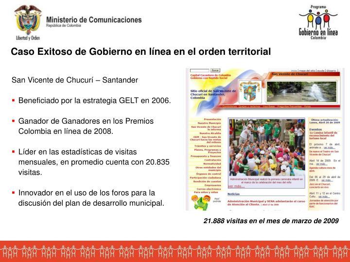 Caso Exitoso de Gobierno en línea en el orden territorial