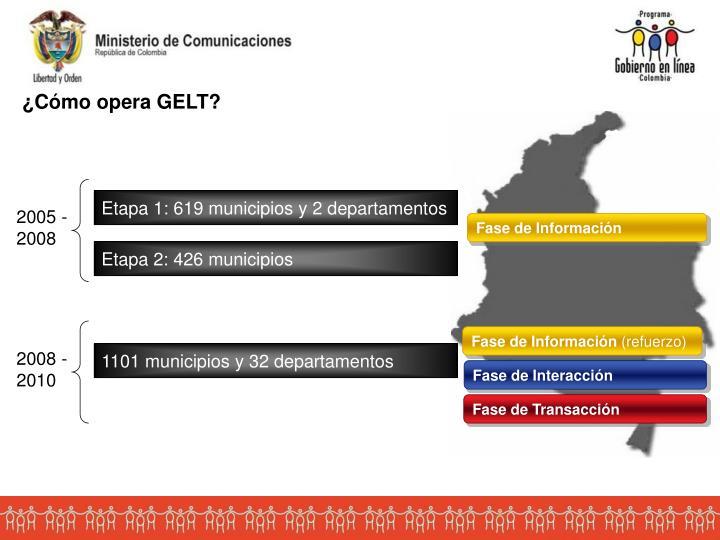 Etapa 1: 619 municipios y 2 departamentos