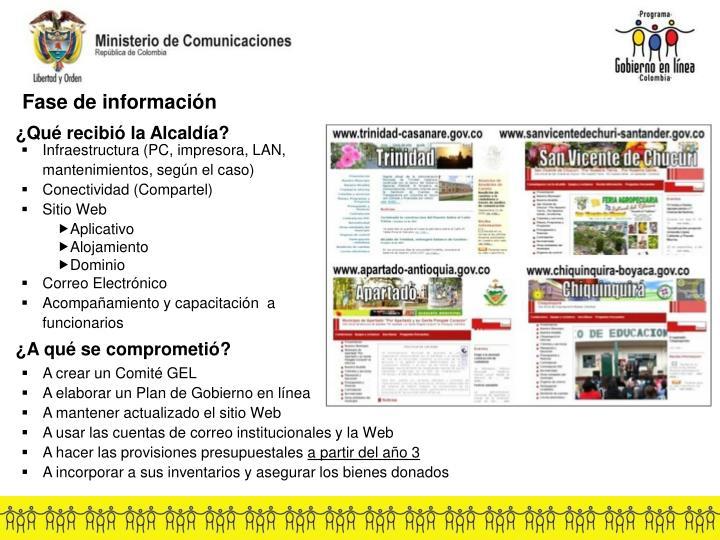 Fase de información