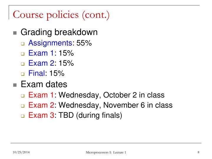 Course policies (cont.)