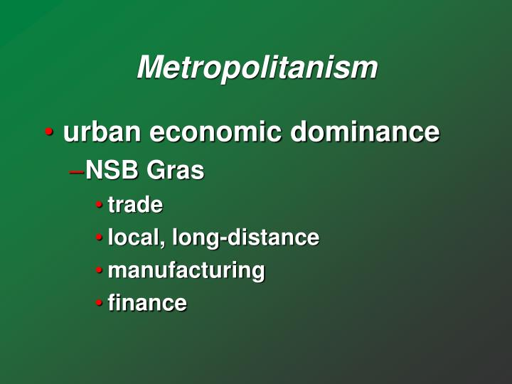 Metropolitanism