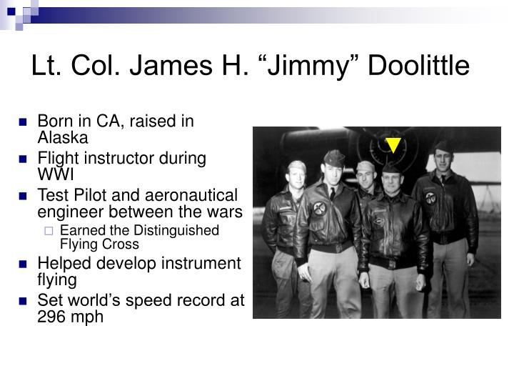 Lt col james h jimmy doolittle