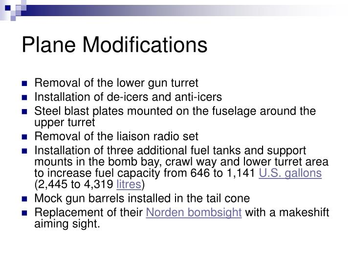 Plane Modifications