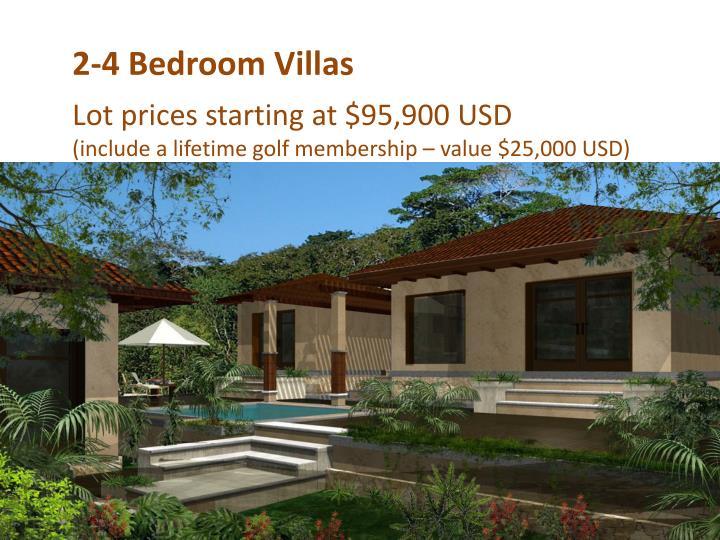 2-4 Bedroom Villas