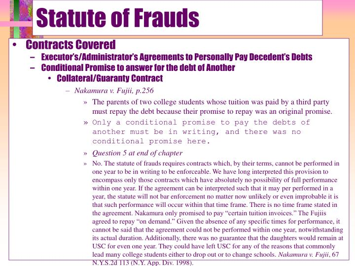 Statute of frauds1