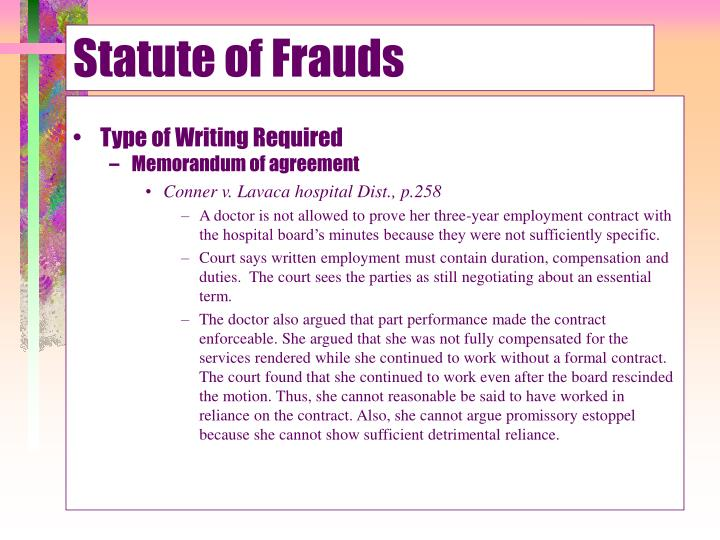 Statute of Frauds
