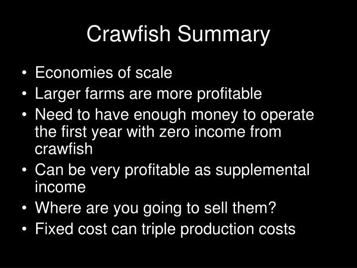 Crawfish Summary