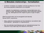 4 metadata relationships formalization