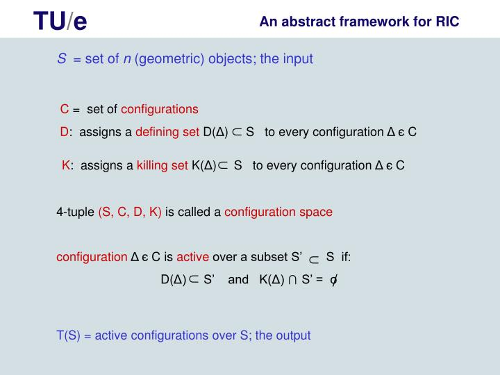 An abstract framework for RIC