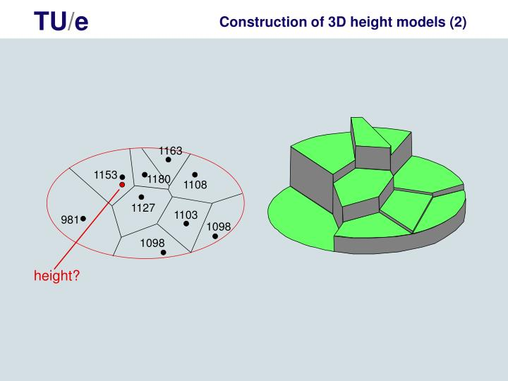 Construction of 3D height models (2)