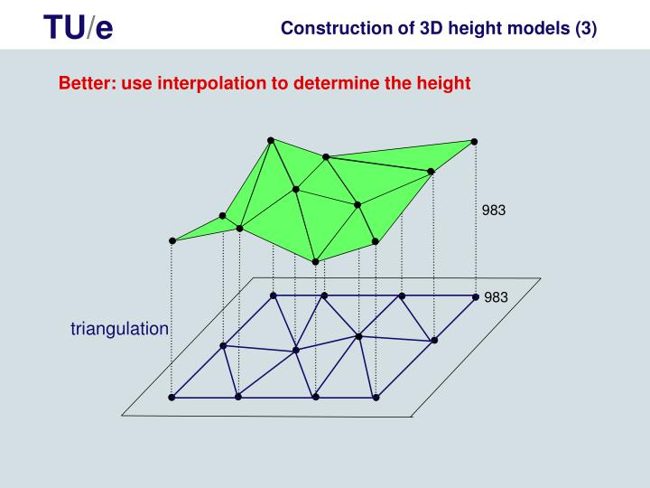 Construction of 3D height models (3)