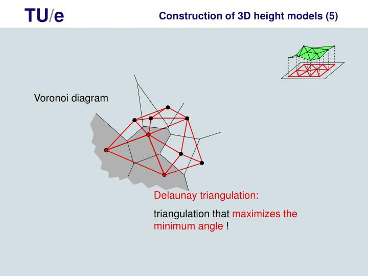 Construction of 3D height models (5)