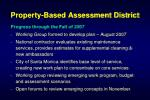 property based assessment district