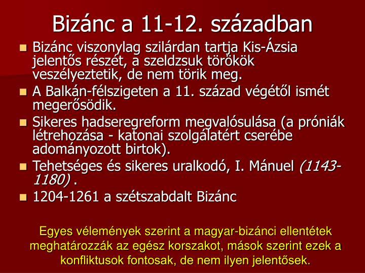 Bizánc a 11-12. században