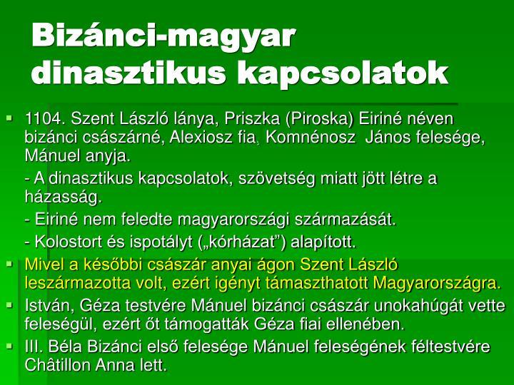 Bizánci-magyar dinasztikus kapcsolatok