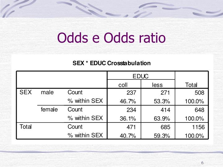 Odds e Odds ratio
