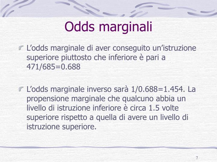 Odds marginali