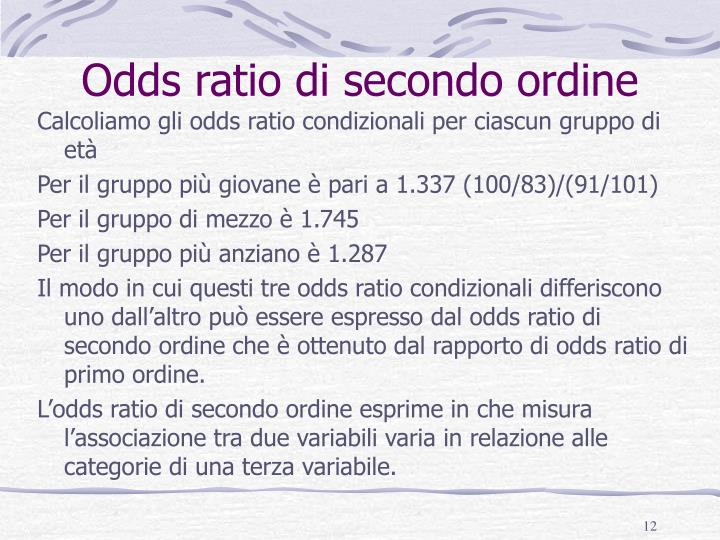 Odds ratio di secondo ordine
