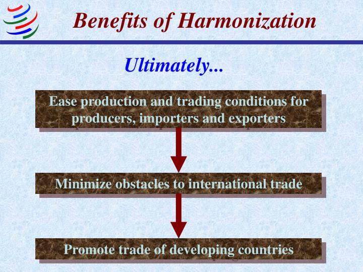 Benefits of Harmonization