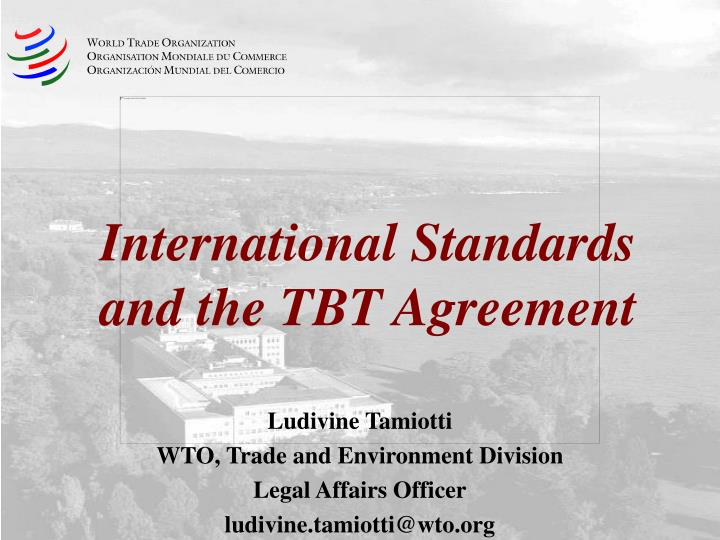 International standards and the tbt agreement