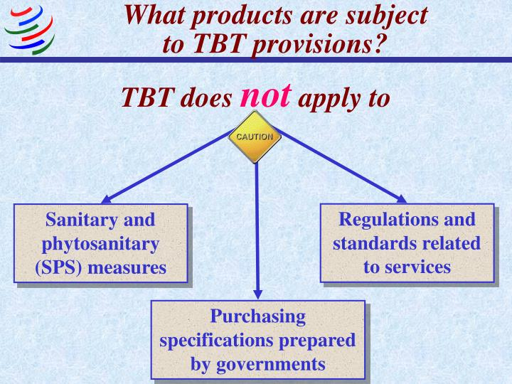 What products are subject to tbt provisions1