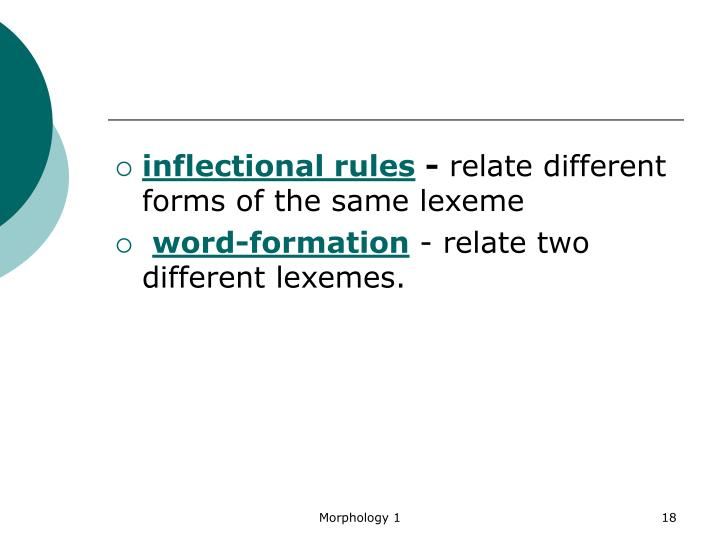 inflectional rules