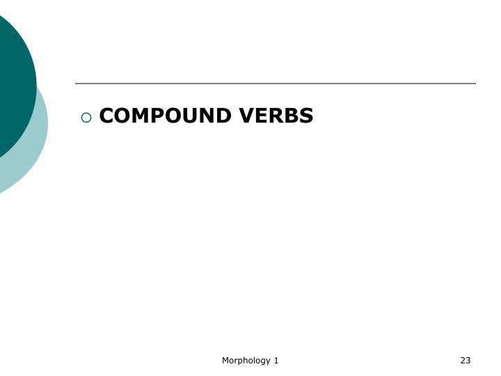 COMPOUND VERBS