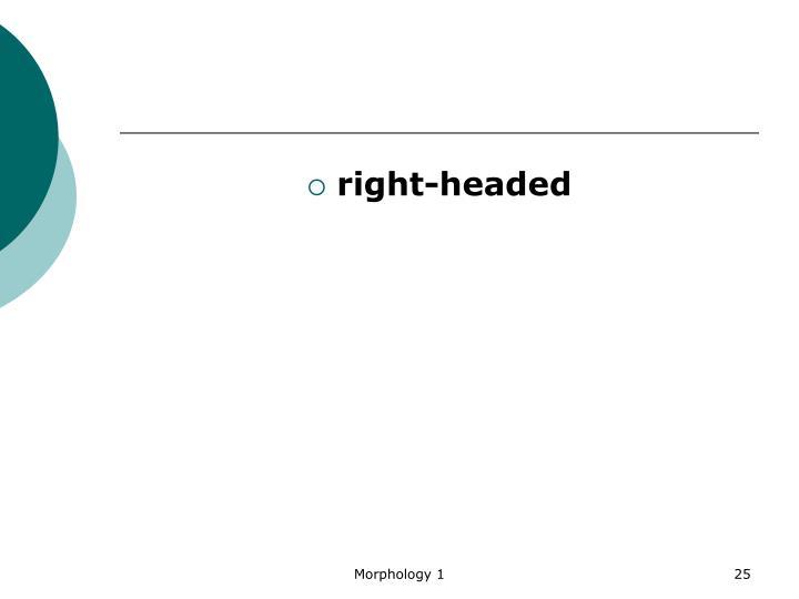 right-headed