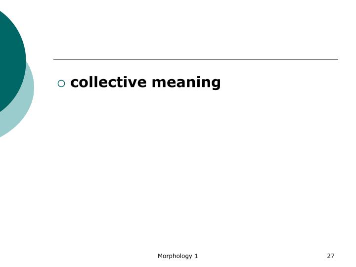 collective meaning