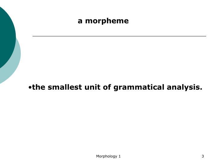 amorpheme