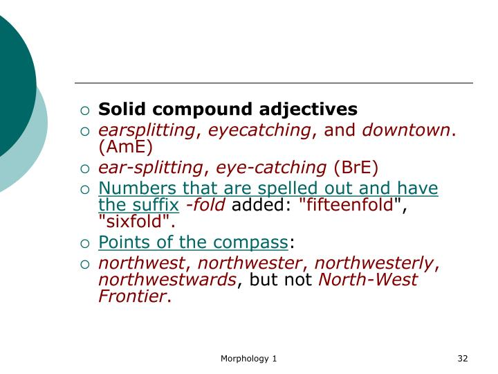 Solid compound adjectives