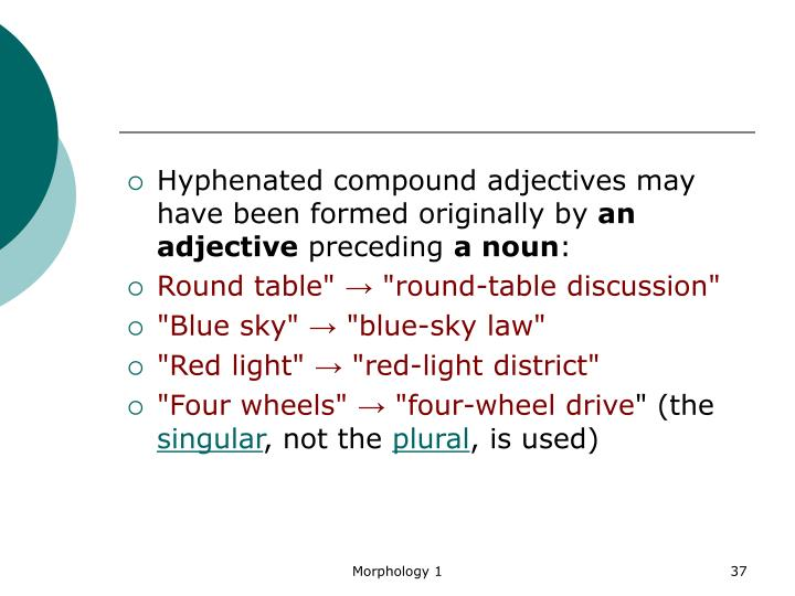 Hyphenated compound adjectives may have been formed originally by