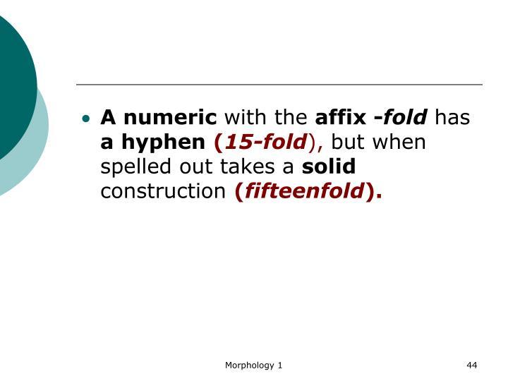A numeric