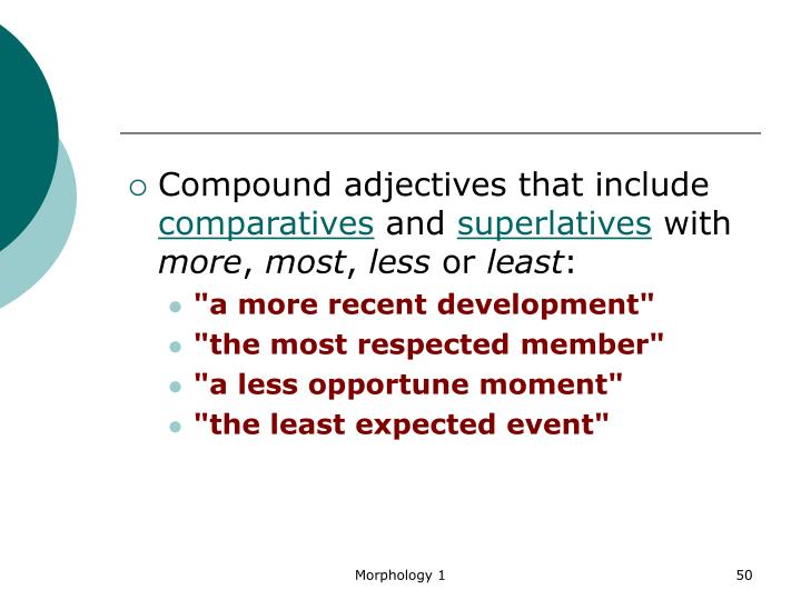 Compound adjectives that include