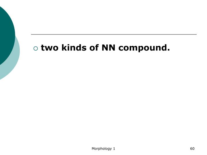 two kinds of NN compound.