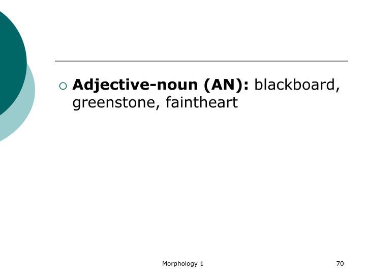 Adjective-noun (AN):