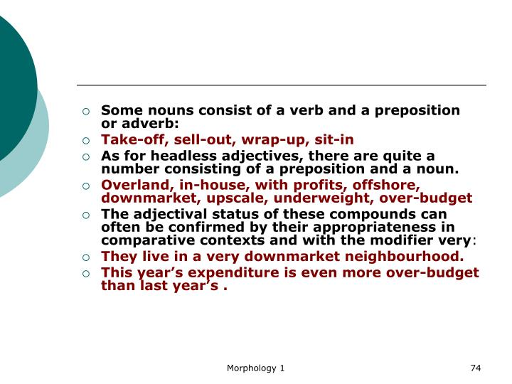 Some nouns consist of a verb and a preposition or adverb: