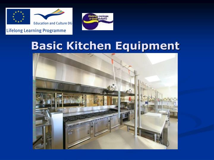 Basic k itchen equipment