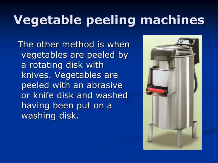 Vegetable peeling machines