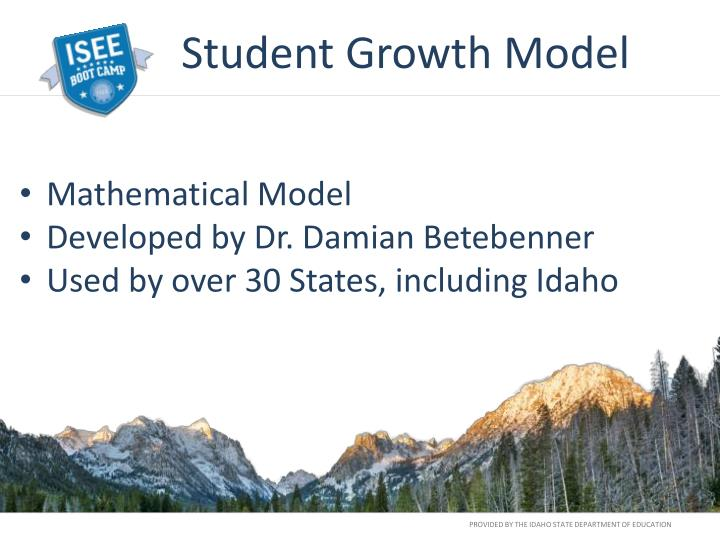 Student Growth Model