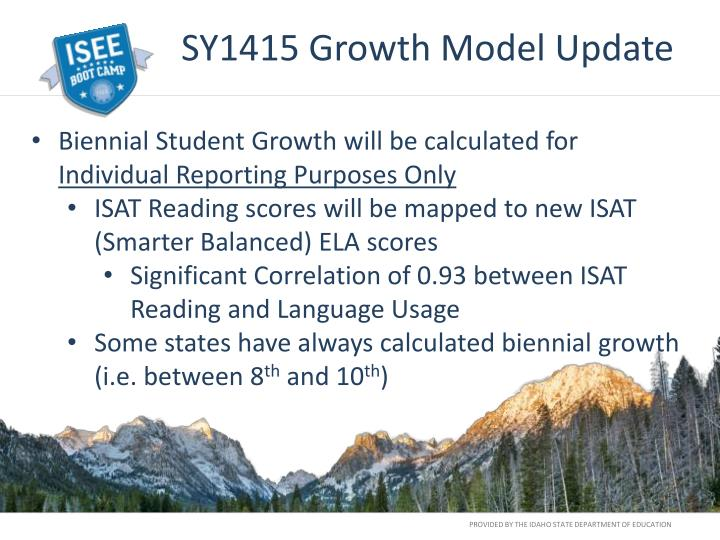 SY1415 Growth Model Update